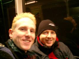 Martin and Scott on the T