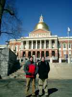 Martin and Scott in front of the Massachusetts State House