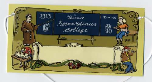 picture of my school reunion name tag