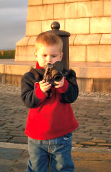 Alex at the top of Dundee Law