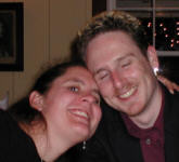 Abi and Martin at the Plumed Horse in Saratoga, November 2000