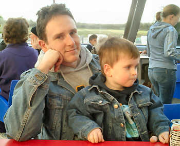 Alex and Martin at the Falkirk Wheel