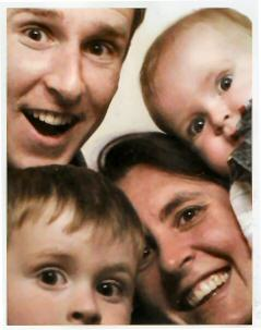 The Sutherlands squished into a photo booth