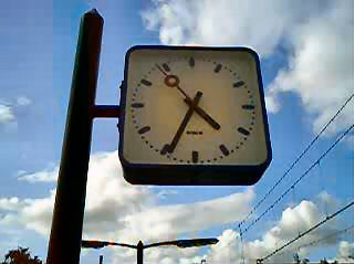 A Dutch train station clock