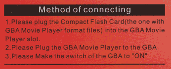 GBA Movie Player instructions