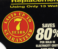 Lasts up to 7 years--guaranteed!