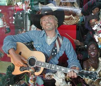 Singing, guitar-playing, Richard Branson