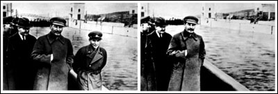 Stalin with (and without) Nikolai Yezhov